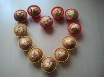 Кокосови мъфини с бял шоколад