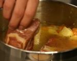 Картофена супа със зеле и пушени гърди 3