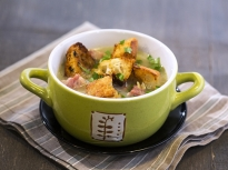 Картофена супа с праз и бекон