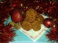Коледни овесени бисквити
