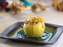 Карамелени ябълки с ориз