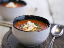 Доматена супа с булгур и сирене