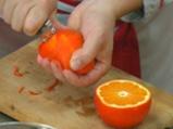 Салата от пролетни зеленчуци с портокал 2