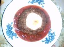 Гнезда от кайма с доматен сос