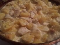 Пиле със сметана и картофи
