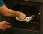 Хлебен пудинг с гъби и бри 7