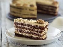 Орехова торта с мока крем