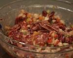Бобена салата с печени чушки и бабек 3