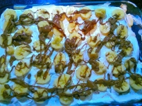 Бисквитена торта с банани и маскарпоне