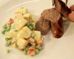 Картофена салата с грах и чушки 6