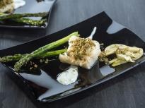 Риба с аспержи и резене