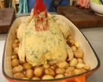 Печено пиле с пресни картофи 2