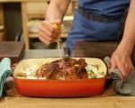 Печено пиле с пресни картофи 5