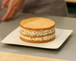 Трицветна солена торта 12