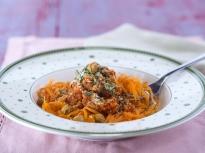 """Спагети от моркови с постно """"Болонезе"""""""