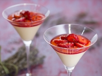 Крем с ягоди и лавандула