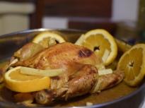 Пиле с портокали
