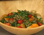 Картофена салата с домати и рукола 4