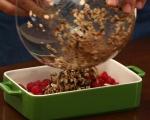 Шоколадов кръмбъл с круши и малини 4
