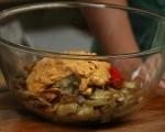 Печени зеленчуци с майонезен сос 7