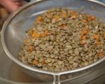Топла салата от българска леща с пушени гърди 3