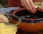 Печени миди с картофи и ориз 4