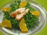 Пилешка спаначена салата с ягодов винегрет 4