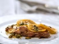 Пилешко с бяло вино и лимон