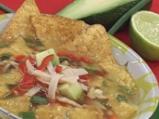 Пилешка супа с тортиля чипс