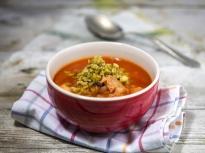 Доматена супа с морски дарове