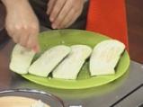 Подлучени патладжанени рулца със сирене