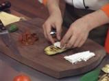 Подлучени патладжанени рулца със сирене 4