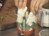 Капелини с жълт фасул и доматено песто със сирене 3