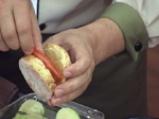 Бисквити Дунавия с мариновани тиквички и домати 5