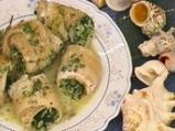 Рибни рулца със спанак и ориз на микр...