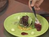 Салата от пъпеш с балсамово-малинов винегрет 5