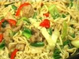 Агнешко къри със спагети