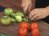 Свинско с червен фасул и зелени домати 3