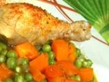 Пиле с грах в микровълнова фурна