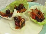Пиле с череши в марулени лодчици 4