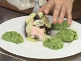 Сьомга с пюре от броколи 5