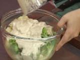 Картофена салата със заливка от тофу 3