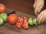 Супа от зелени и червени домати
