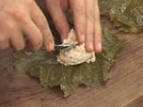 Лозови сарми с извара и орехови ядки 3