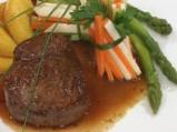 Телешки стек с винен сос