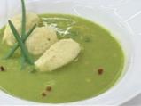 Супа от грах с кнедли от кашкавал