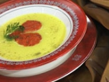 Супа от карфиол с пюре от червени чушки