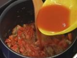 Супа от карфиол с пюре от червени чушки 3
