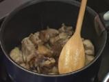 Супа от грах с карамелизирани ребърца 5