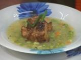 Супа от грах с карамелизирани ребърца 6
